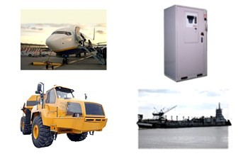 Applications including aviation, power supply, mining & marine industries